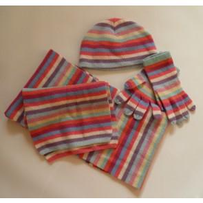 Комплект - шапка, шарф, перчатки